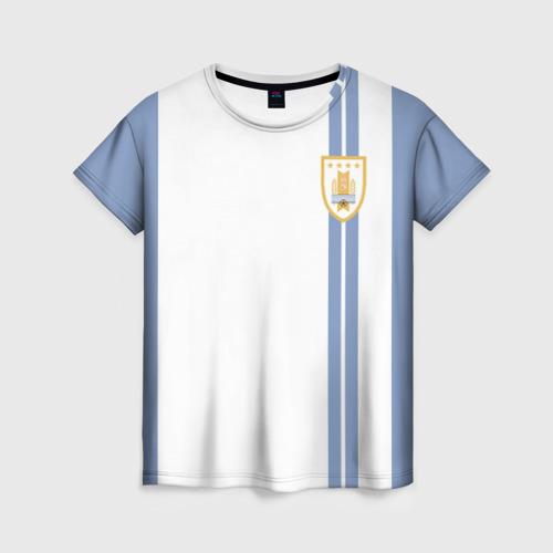 Женская футболка 3D Уругвай, форма