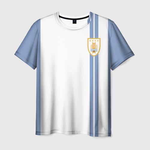 Мужская футболка 3D Уругвай, форма