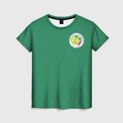 Женская футболка 3D Сенегал, форма