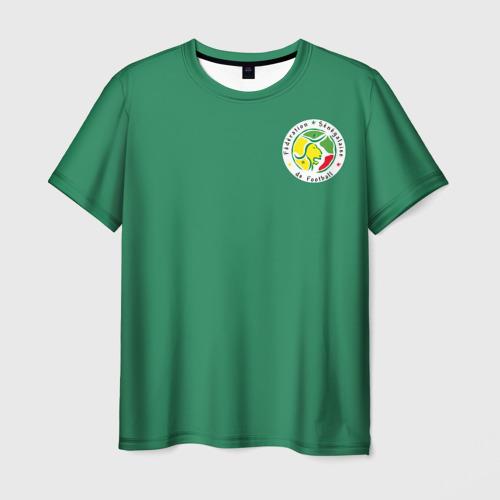 Мужская футболка 3D Сенегал, форма