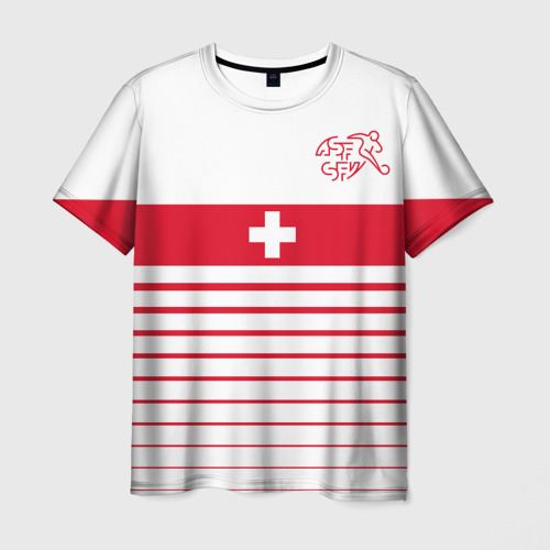 Мужская футболка 3D Швейцария, форма