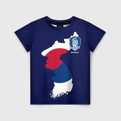 Детская футболка 3D Республика Корея, форма