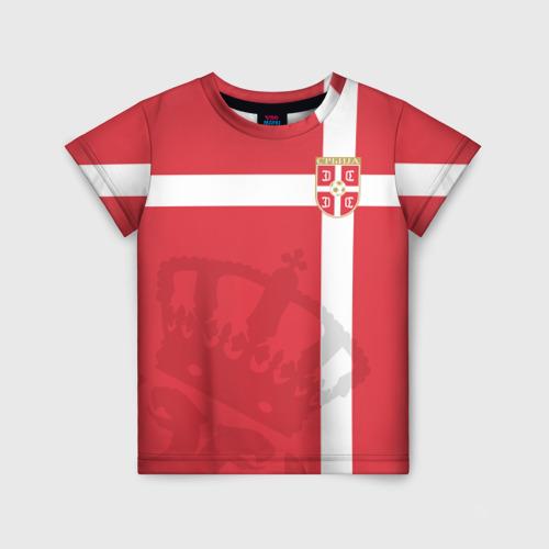 Детская футболка 3D Сербия, форма