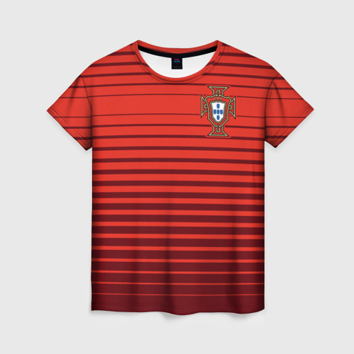 Женская футболка 3D Португалия, форма