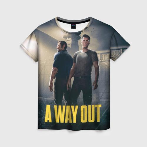 Женская футболка 3D A Way Out