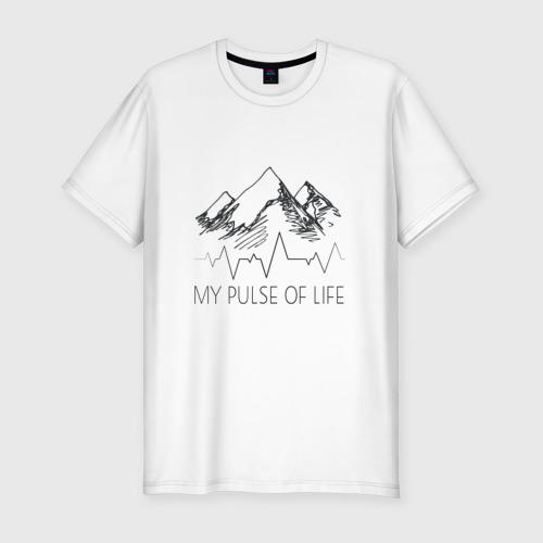 Мужская футболка хлопок Slim альпинизм