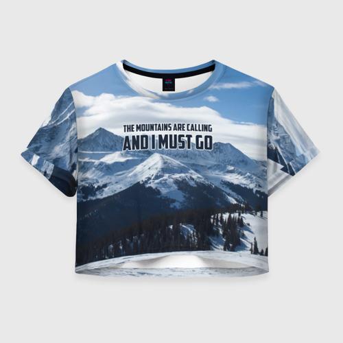 Женская футболка Crop-top 3D альпинизм