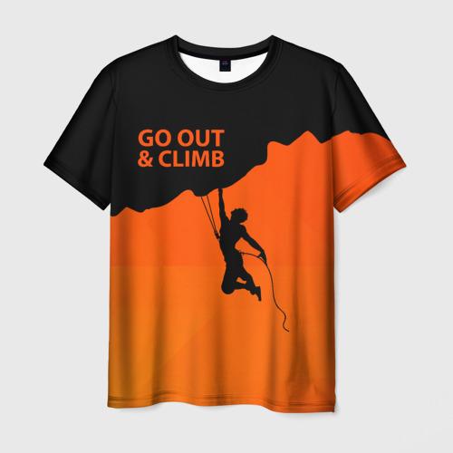 Мужская футболка 3D climbing