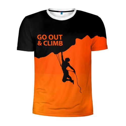Мужская футболка 3D спортивная climbing