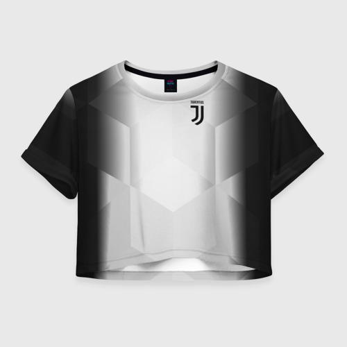 Женская футболка Crop-top 3D JUVENTUS