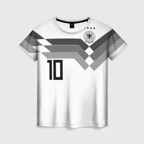 Женская футболка 3D Месут Озил ЧМ 2018