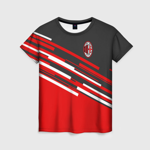 Женская футболка 3D AC MILAN