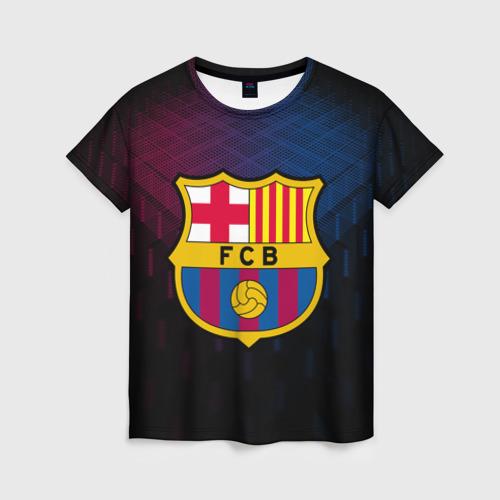 Женская футболка 3D FC Barca 2018 Original
