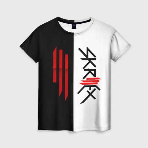 Женская футболка 3D Skrillex
