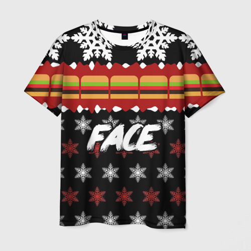 Мужская футболка 3D Праздничный Face