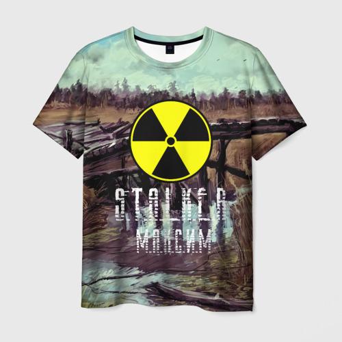 Мужская футболка 3D S.T.A.L.K.E.R МАКСИМ