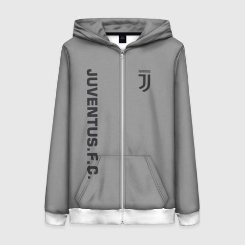 Женская толстовка 3D на молнии Juventus 2018 Vintage
