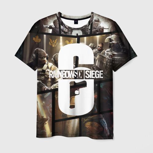 Мужская футболка 3D RAINBOW SIX SIEGE   РАДУГА 6 ОСАДА   R6S