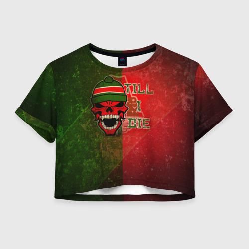 Женская футболка Crop-top 3D Локомотив
