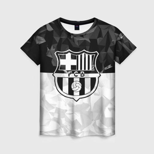 Женская футболка 3D FC Barca Black Collection