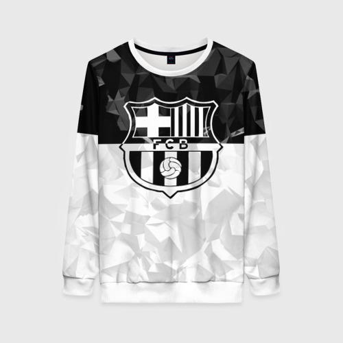 Женский свитшот 3D FC Barca Black Collection