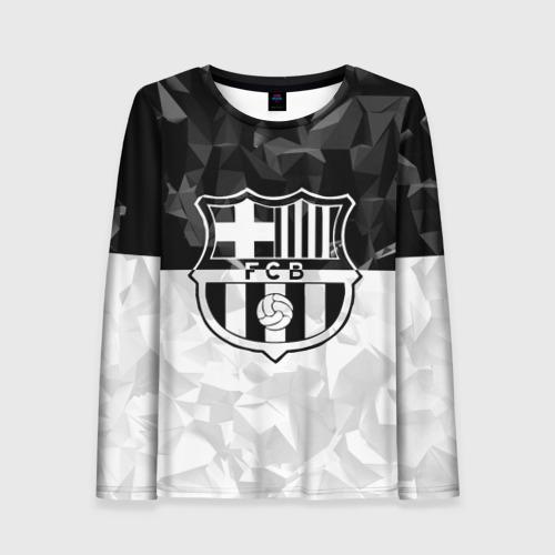 Женский лонгслив 3D FC Barca Black Collection