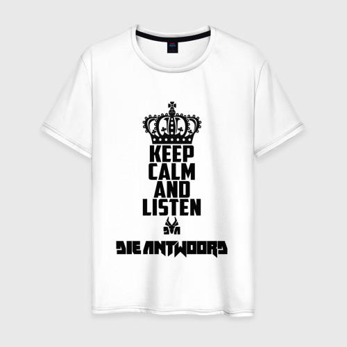 Мужская футболка хлопок Keep calm and listen Die Antwoord