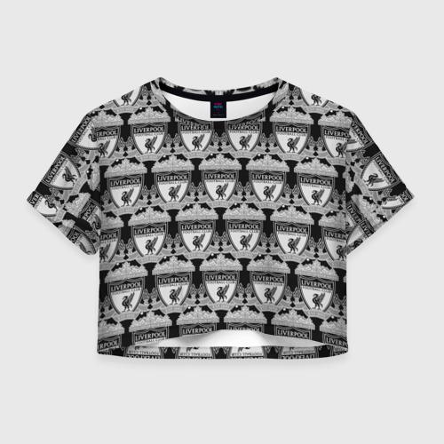 Женская футболка Crop-top 3D Liverpool Black&White