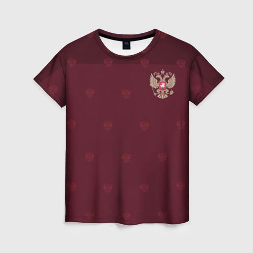 Женская футболка 3D Россия, форма