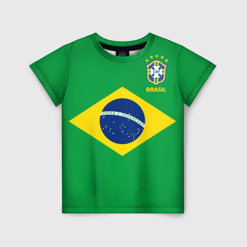 Детская футболка 3D Бразилия, форма