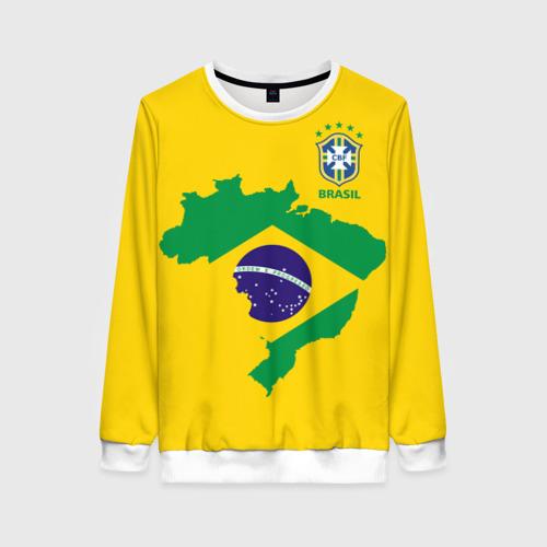 Женский свитшот 3D Бразилия, форма