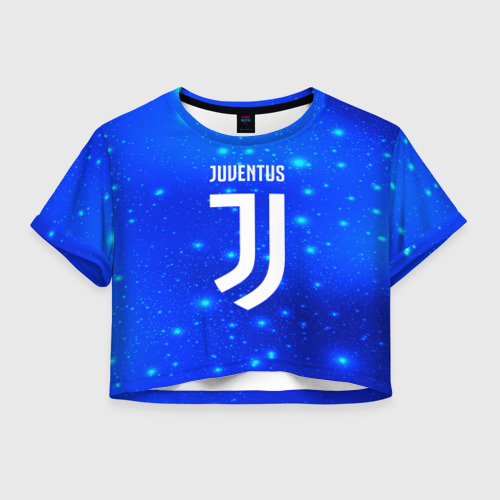Женская футболка Crop-top 3D Juventus space collection