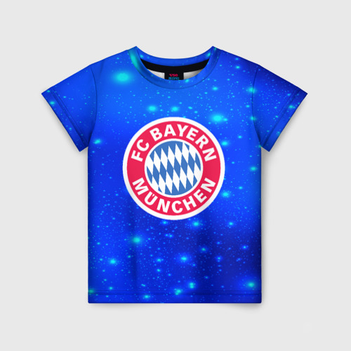 Детская футболка 3D FC Bayern Munchen space 2018