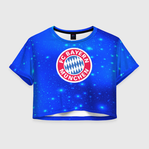 Женская футболка Crop-top 3D FC Bayern Munchen space 2018