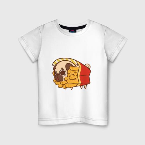 Детская футболка хлопок мопс-фри