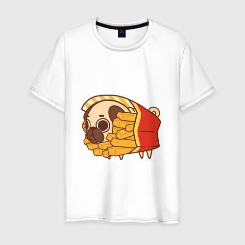 Мужская футболка хлопок мопс-фри