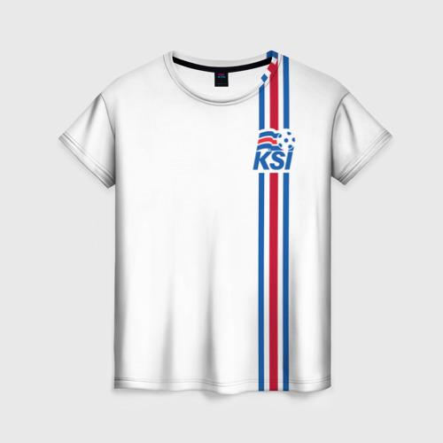 Женская футболка 3D Исландия, форма