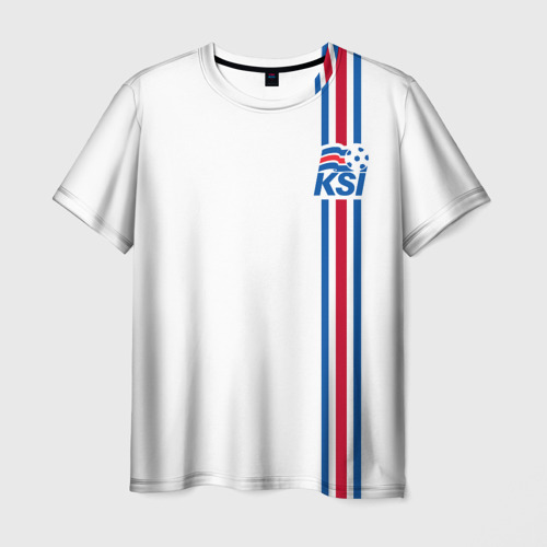 Мужская футболка 3D Исландия, форма