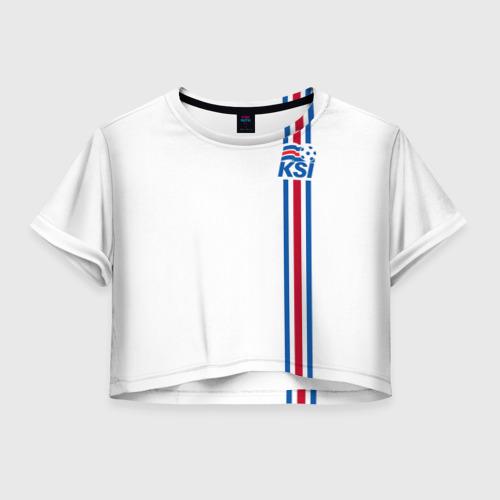 Женская футболка Crop-top 3D Исландия, форма