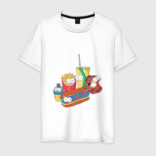 Мужская футболка хлопок Вкусные Симпсоны