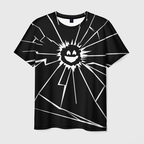 Мужская футболка 3D Черное Зеркало