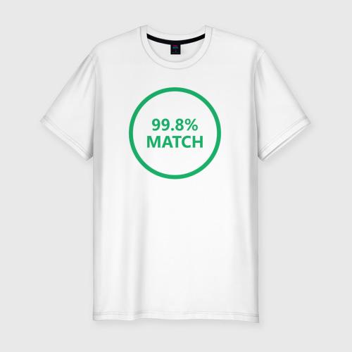 Мужская футболка хлопок Slim Match