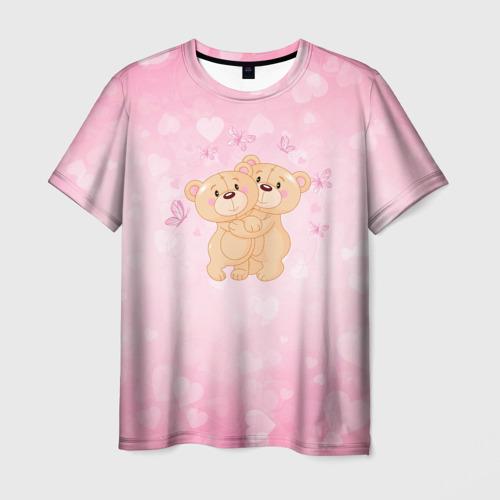 Мужская футболка 3D Мишки