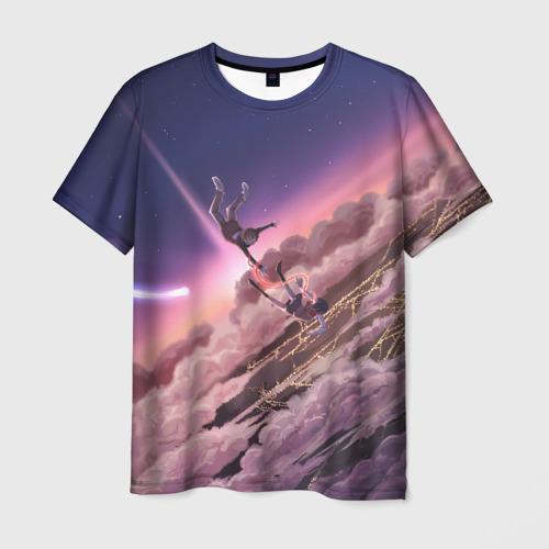 Мужская футболка 3D Falling
