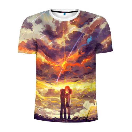Мужская футболка 3D спортивная The End