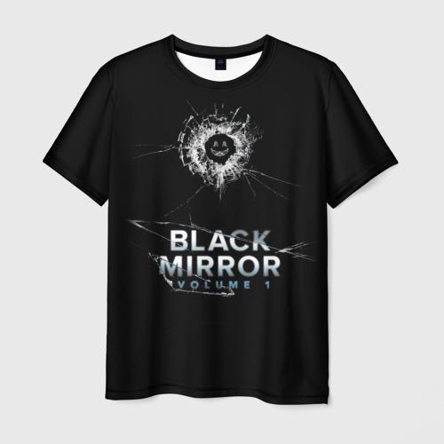 Мужская футболка 3D Black mirror