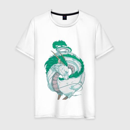 Мужская футболка хлопок Дракон Хаку в полный рост
