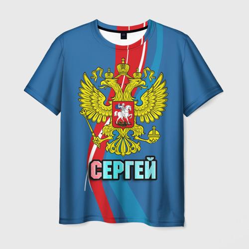 Мужская футболка 3D Герб Сергей
