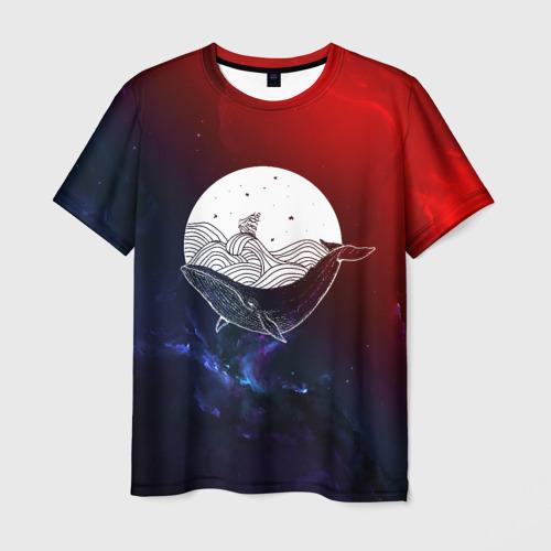 Мужская футболка 3D Кит