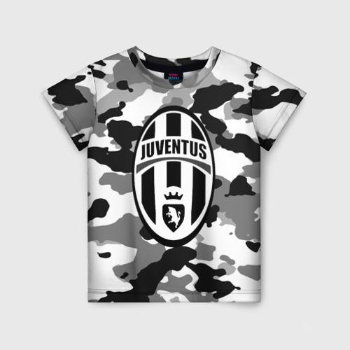 Детская футболка 3D FC Juventus Camouflage